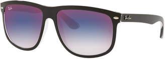 Ray-Ban Men's RB4147 Mirrored Flat-Top Plastic Sunglasses