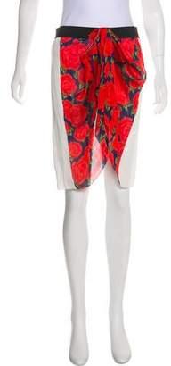 Maison Rabih Kayrouz Silk Cover-Up Skirt