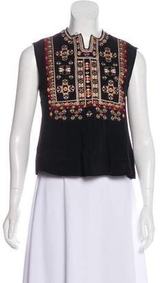 Isabel Marant Embroidered Sleeveless