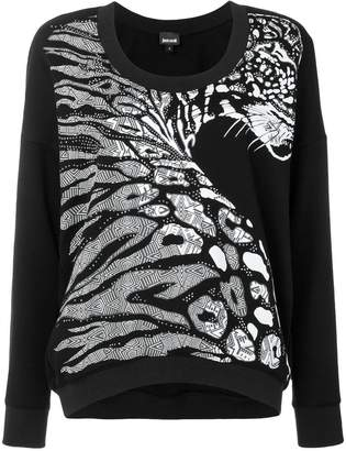 Just Cavalli zebra print jumper