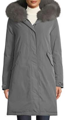 Woolrich Keystone Down Parka Coat w/ Detachable Fur Collar
