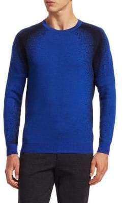 Saks Fifth Avenue MODERN Wool Sprayed Design Sweater