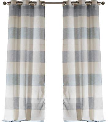 Wayfair Cecily Striped Grommet Curtain Panel Pair