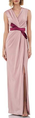 Kay Unger Contessa Stretch Faille Column Gown