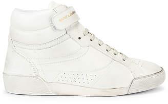 Saint Laurent High Top Sneaker in White | FWRD