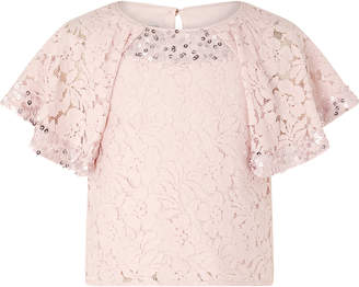 Monsoon Carrie Lace Sparkle Top