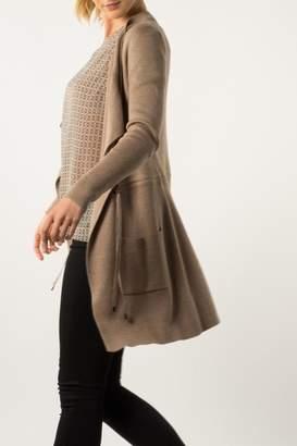 Backdrop Fashion Drawstring Pocket Cardi