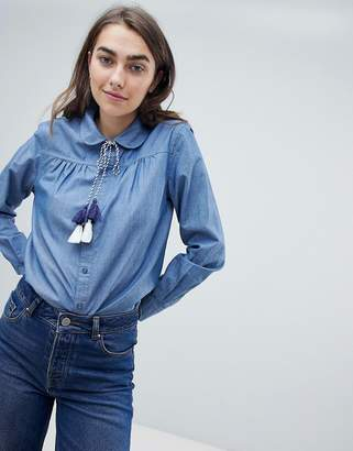 Max & Co. Max&Co Chambray Shirt with Tassels