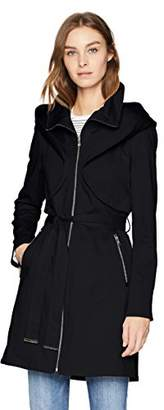 Soia & Kyo Women's Arabella Stretch Cotton Trench Coat with Hood