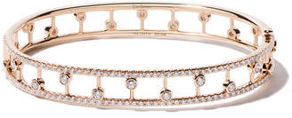 De Beers 18kt rose gold Dewdrop diamond bangle