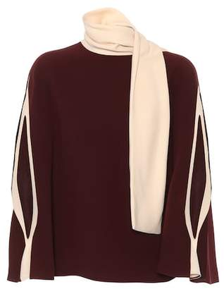 Valentino Silk-cady cape top