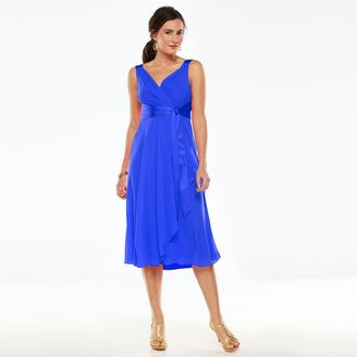Women's Chaps Surplice Empire Evening Dress $120 thestylecure.com
