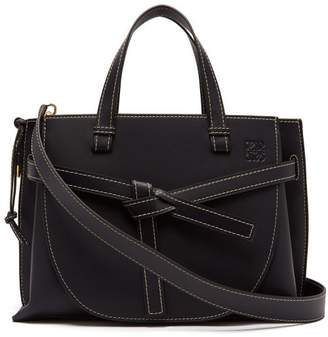 Loewe Gate Top Handle Leather Bag - Womens - Navy