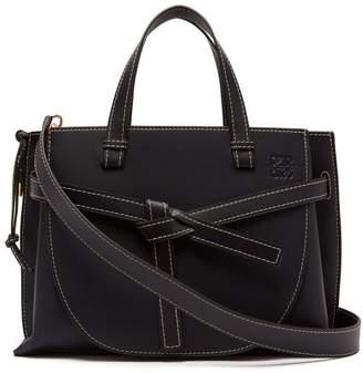 Loewe - Gate Top Handle Leather Bag - Womens - Navy