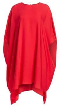 St. John Silk Georgette Draped Dress