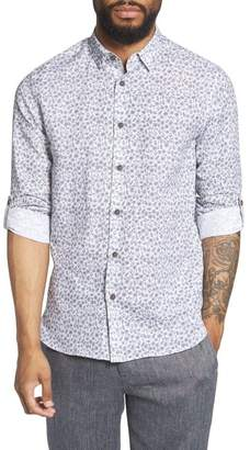 Ted Baker Nazta Trim Fit Tropical Print Sport Shirt