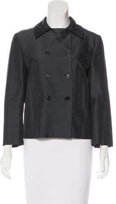 Narciso Rodriguez Silk Cropped Jacket