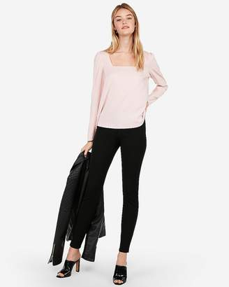 Express Square Neck Puff Shoulder Blouse