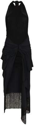 Jacquemus La Robe Drapeado Fringe Dress