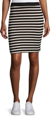 ATM Anthony Thomas Melillo Striped Jersey Pencil Skirt