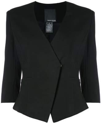 Thomas Wylde skinny fit wrap front blazer