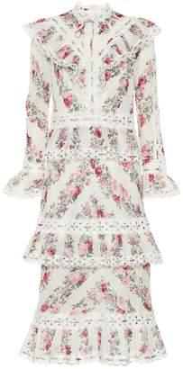 Zimmermann Honour floral cotton midi dress