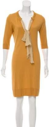 Fendi Knee-Length Long Sleeve Dress
