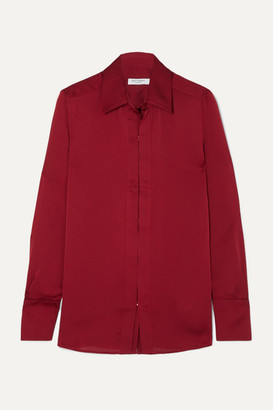 Equipment Rene Satin Shirt - Red