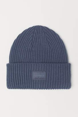 H&M Rib-knit Hat - Blue