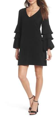 Charles Henry Tiered Ruffle Sleeve Dress (Regular & Petite)