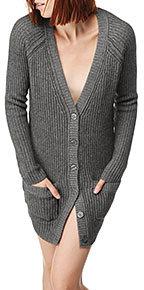 Cashmere Blend Button Cardigan