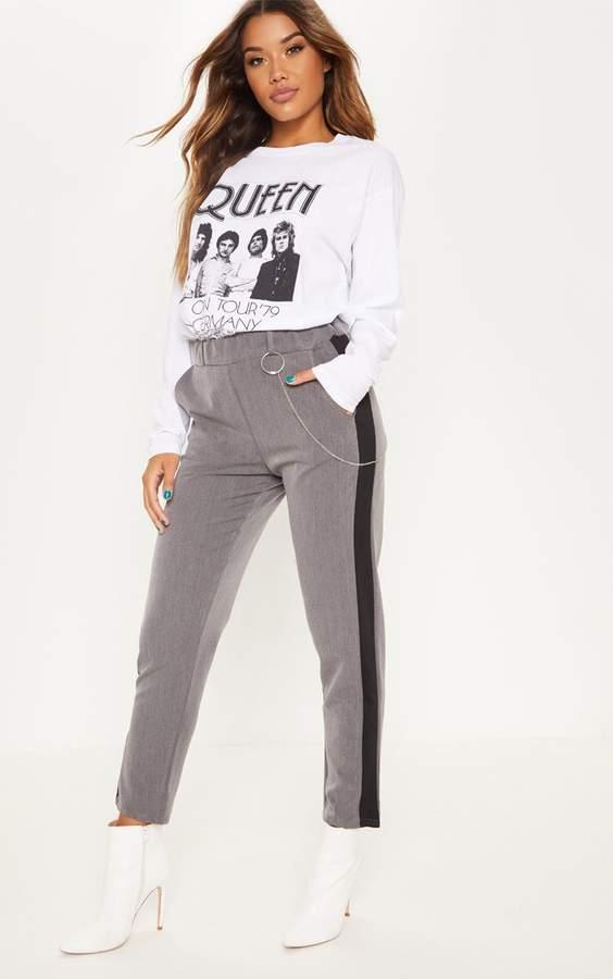Grey Formal Side Stripe Trouser