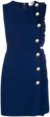 MSGM ruffled trim short dress