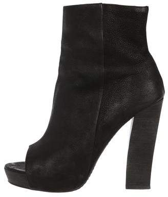 AllSaints Leather Platform Booties