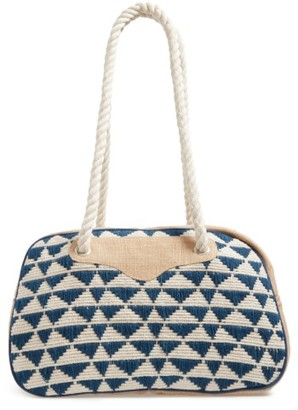 Sole Society Getaway Woven Weekend Bag - Blue $89.95 thestylecure.com