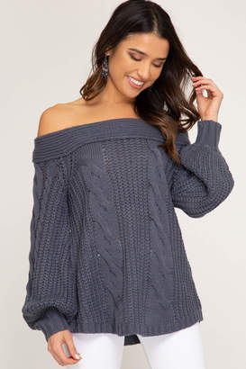 Factory Unknown Off Shoulder Sweater