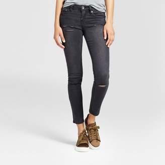 Dollhouse Women's Destructed Slit Knee Skinny Jeans - Dollhouse (Juniors') Black $32.99 thestylecure.com
