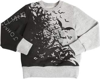 John Galliano Bats Printed Cotton Sweatshirt