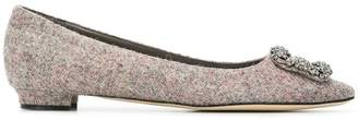 Manolo Blahnik Hangisiflat ballerina shoes