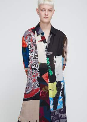 Yohji Yamamoto Collared Long Gore Shirt