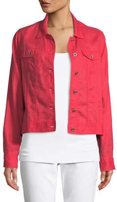 Eileen Fisher Organic Linen Crop Jacket