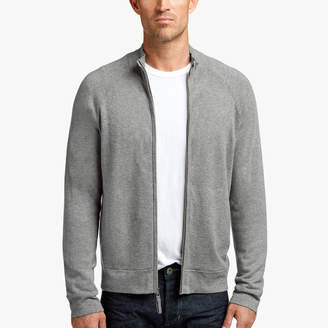 James Perse COTTON CASHMERE LINED ZIP-UP