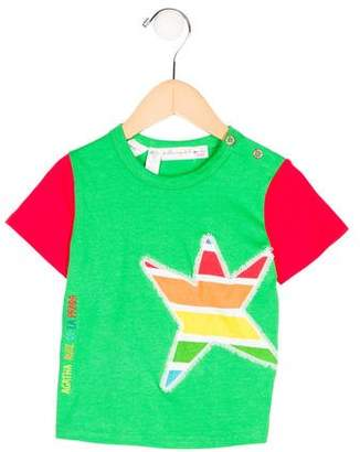 Agatha Ruiz De La Prada Boys' Appliqué Short Sleeve Shirt w/ Tags