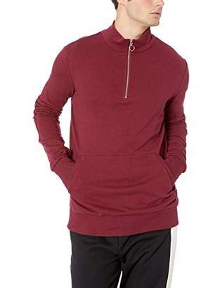2xist Men's Mock Neck Zip Up Sweatshirt Sweater