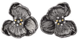 Michael Aram Orchid Large Stud Earrings w/ Diamonds