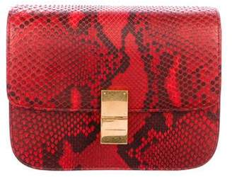 Celine Medium Python Classic Box Bag