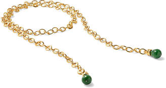Catherine Canino Green Quartz Rolo Chain Lariat