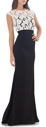 Women's Carmen Marc Valvo Infusion Lace Gown $425 thestylecure.com