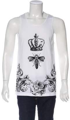 Dolce & Gabbana Printed Sleeveless T-Shirt