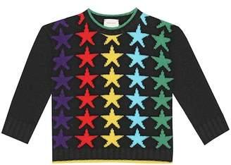 Gucci Kids Star intarsia wool sweater